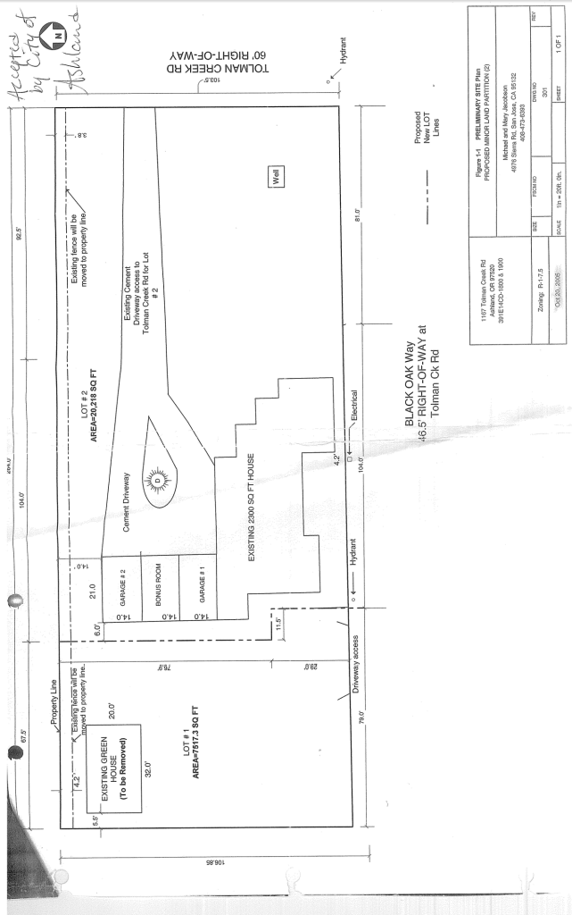 Lot Split - Preliminary Site Plan